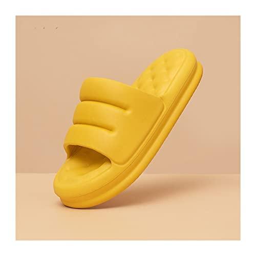 HYMD Badelatschen Eva Herren Hausschuhe Sofa Folien Männer Sandalen Weiche Innenbad Home Hausschuhe Frauen Dicke Sohle Anti-Rutsch Mute Sommerschuhe (Color : Grey, Shoe Size : 40 41)