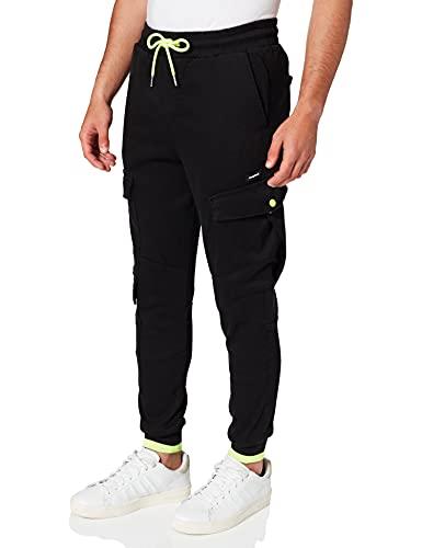 Desigual Pant_TARSILO Pantaloni Casual, Black, 36 Uomo