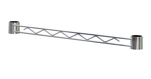 ARCHIMEDE système de contreventement modulable, métal, chromé, 121 x 2,5 x 4 cm
