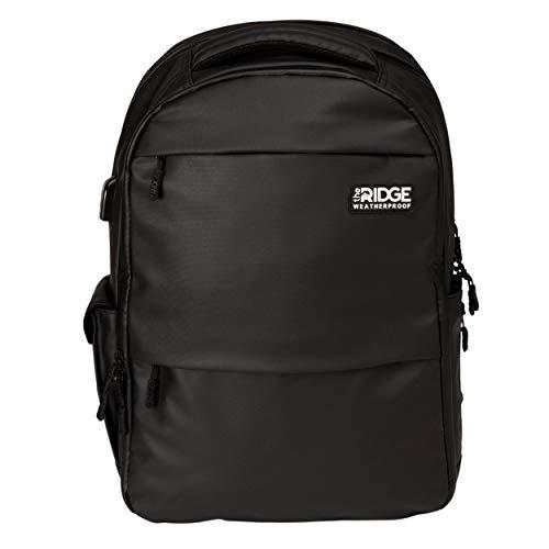 Ridge The Commuter - Weatherproof Backpack | Travel Backpack with Laptop Holder | Work Backpack | Waterproof, RFID Blocking Nylon Backpack | Black