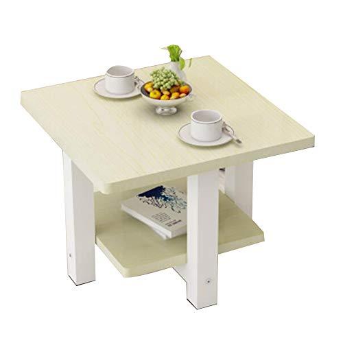 YNN Table Table d'appoint à 2 Niveaux, Table d'appoint/d'appoint Table Basse Squre avec Pieds en Acier, 7 Couleurs 60X60X50cm (Couleur : 04)