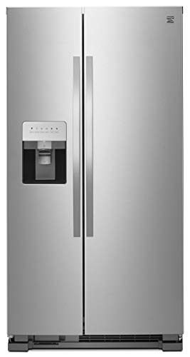 Kenmore 36' Side-by-Side Refrigerator and Freezer with 25 Cubic Ft. Total Capacity, Stainless Steel