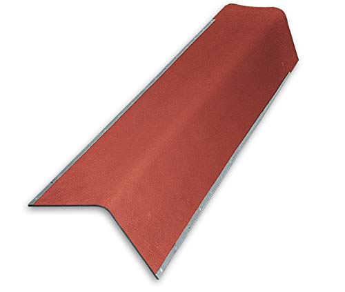 Giebelwinkel für Bitumenwellplatten - rot mit Metallkante 850 mm
