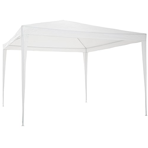 TecTake Gazebo for garden party camping festival beer tent marquee 3 x 3m (White | No. 400931)