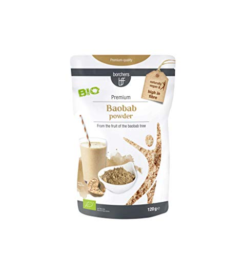 borchers Bio Baobab Pulver, Affenbrotbaum Pulver, Apothekerbaum, Adansonia, Bio-Qualität, 120 g