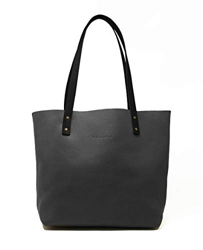 CP CALMA PROJECT - Tote Bag BEL   Bolso Mujer, Bolso Piel 100% Artesanal con Cremallera y Correa Bandolera, Bolsillo Interior y Cadena para Llaves