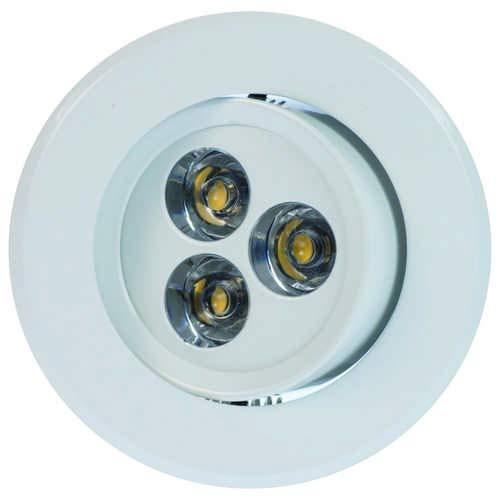Heitronic 3000 Kelvin LED Einbaustrahler London 3-Teilig, Weiß