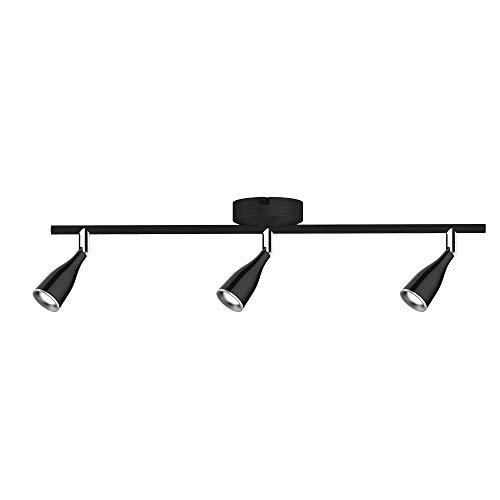 V-TAC 13.5W Schwarzes LED Wand-Spotlight – LED Dreifachkopf Spot-Leuchte (4000K-Tageslichtweiß) Drehbarer Spotlight-Kopf – 1080 lm –Spotlight-Gehäuse für Wohnzimmer, Küche, Büro, Rezeption, Gallery