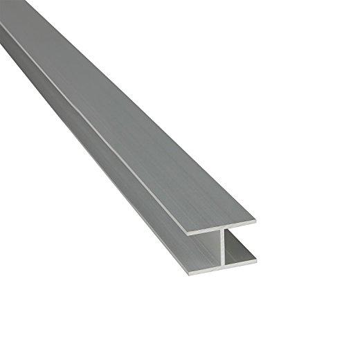 Alu H-Profil ELOXIERT 20x9x1,5 (innen 6 mm) x 2.000+-4 mm