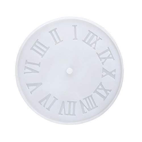 WANDIC Silikonform aus Kunstharz, 1 Stück, römische Ziffern, Silikonform, Uhr-Form, Schmuck, Gussformen für Heimwerker