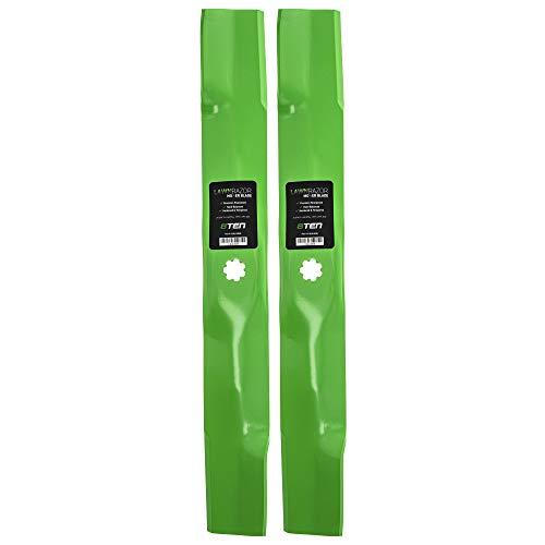 8TEN LawnRAZOR Hi Lift Blade for John Deere 42 inch Deck LT160 SST15 SST16 EZtrak AM137327 AM141032 M154061 2 Pack