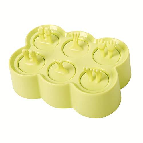 KIRURU 製氷皿 DIY アイスキャンディー 可愛い シリコントレー アイスボックス 製氷器アマゾン アイスクリームモールド アイストレイ 動物模様 冷凍トレー 使いやすい 夏物(グリーン)