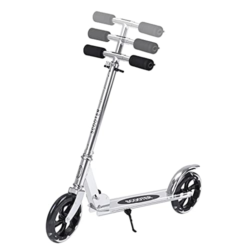 SOPHM5 Sport Scooters Adults Teens Kick Scooter W/Adjustable Handle & Kickstand, Folding Steel Frame Scooters, Riding Scooters Weight Capacity 100 kg (Color : A)