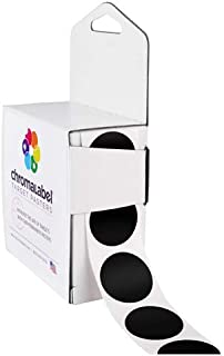 ChromaLabel 1 Inch Target Pasters for Shooting and Target Practice, 1000/Dispenser Box, Black