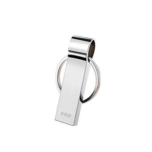 Dorypal 64GB Chiavetta USB Pen Drive Memoria USB Pendrive Portatile Penna USB con Portachiavi Metallo Pen Drive per Archiviazione Dati Esterna (64gb)
