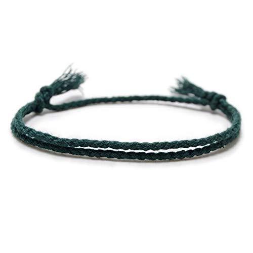 WUCHENG Pulsera de Lino de algodón Simple Retro Cuerda Hecha a Mano Hippie Amistad Envoltura Pulsera Mujer Moda Exquisito joyería Tobillera Tobilleras (Color : ATT 011)