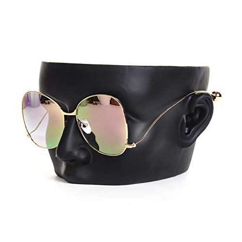 YNNG Sunglasses Holder, Creative Head Mold Eyeglass Holder Jewelry Stand Glasses Display Stand Funny Table Decor Christmas Festival Gift,Black