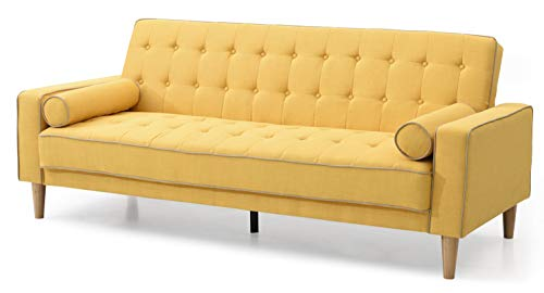 Glory Furniture Futon Sofa Bed, Yellow