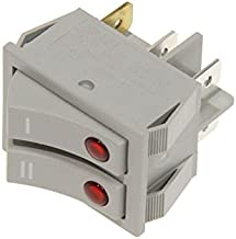 DeLonghi - Interruptor doble para radiador de aceite TRSW KH77 H19 H25 H29 KH590 TRN TRS