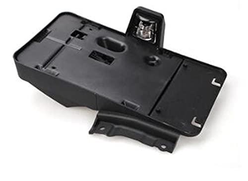 Soporte De Placa De Matrícula Trasera Exterior De Coche ABS con Decoración De Luz De 12 V para Wrangler 2007-2017 Estilo De Coche Sticker Carro (Talla : Negro)