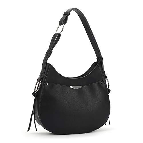 AFKOMST Hobo Bags for Women Hobo Purses and Handbags Hobo Shoulder Bags Black