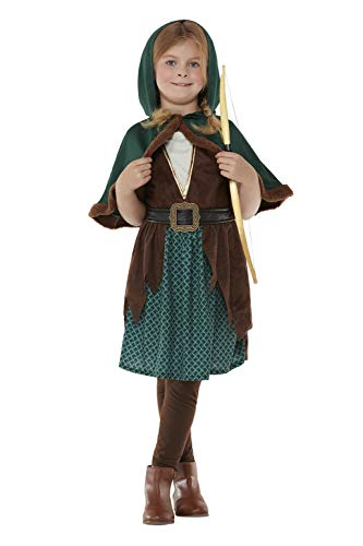 Smiffy's Smiffys Deluxe Forest Archer Costume Disfraz de arquero forestal de Smiffys Niñas
