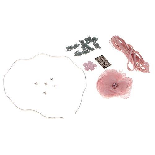 IPOTCH 1 Paquete de Diademas Kits para Fabricación de Proyecto de Manualidades, Regalo para Chicas - Rosado