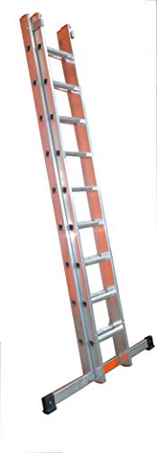 LFI TuFF Industrial Double Section 17 Rung Ladder 4.5m - EN131 Professional - Made in The UK - 10 Year Manufacturer Warranty
