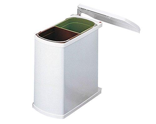 Hailo 3416001 Abfallsammler MF Swing 45.2/16 w für Schränke ab 450 mm Breite mit Drehtür