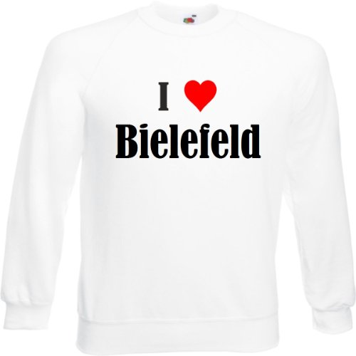 Reifen-Markt Sweatshirt I Love Bielefeld Größe 2XL Farbe Weiss Druck Schwarz