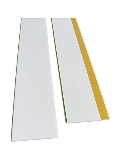 BawiTec PVC-Kunststoffleiste Abdeckleiste selbstklebend 80mm 600cm weiß Kunststoff
