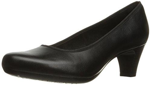 Rockport Women's Hezra Dress Pump, Black Leather, 7.5 W US
