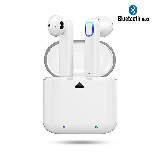 Cuffie Bluetooth 5.0 Ayete Auricolari Bluetooth Senza Fili Invisibile mini cuffie auricolari in-ear wireless con MIC (Giallo)