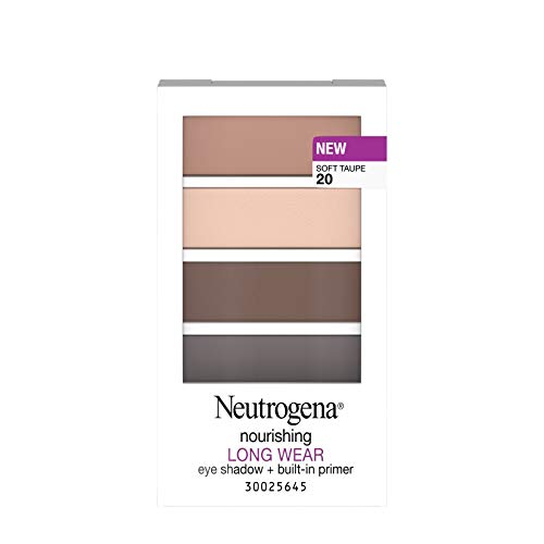 Neutrogena Nourishing Long Wear Eye Shadow Plus Primer, Soft Taupe, 0.24 Ounce by Neutrogena