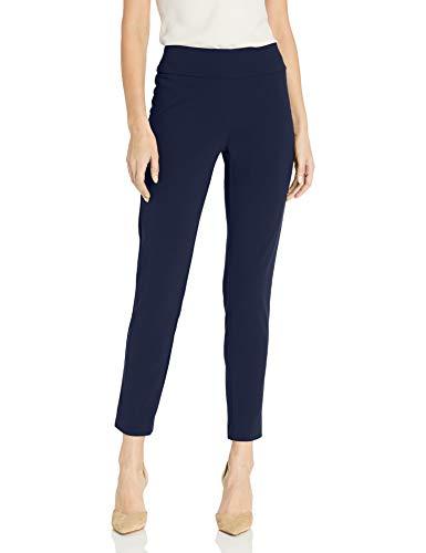 NINE WEST Women's Crepe Pant, Blue Ink, M
