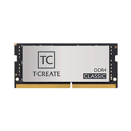 TEAMGROUP T-Create Classic DDR4 SODIMM 32GB 3200MHz(PC4-25600) 260 Pin CL22 Laptop Memory Module Ram - TTCCD432G3200HC22-S01