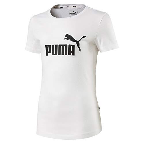 PUMA Mädchen T-shirt ESS, Puma White, 152, 851757