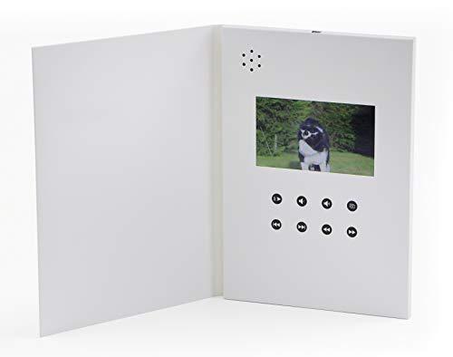 SoundGreets Video Grußkarte inkl. USB Kabel - Video, Bilder und Musik Dateien abspielen - 4,3 Zoll LCD Display, 1 GB Speicher, integrierter Akku - Geburtstag, Glückwünsch, Präsentation