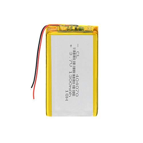 Dilezhiwanjuwu 3.7V 1300mAh 1pcs Lithium Battery 404070 Rechargeable Li-polymer Lipo Battery Replace For Laptop IPad GPS Tablet PSP
