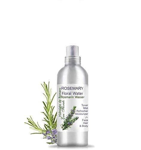 Idrolato di Rosmarino  Tonico Acqua Floreale Distillata  Detersione Tutto Naturale Regola la pelle grassa, problemi di pelle  Pelli Sensibili, Rossori e Irritazioni (200 ml)