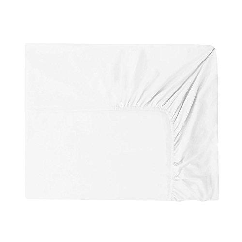 Essix Home Collection lenzuola singolo singolo con angoli, in cotone, 140 x 200 cm, bianco