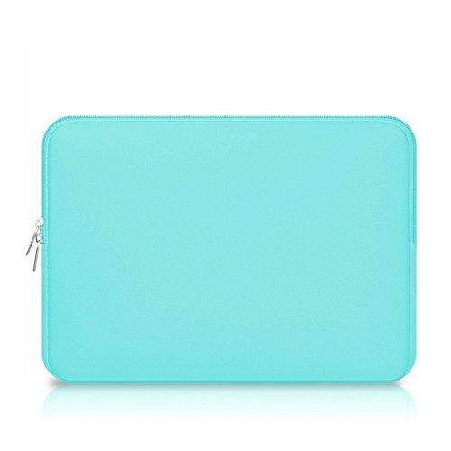 Capa para laptop LEORX com superfície para bolsa de transporte para MacBook Mac Air/Pro/Retina de 13 polegadas (verde)