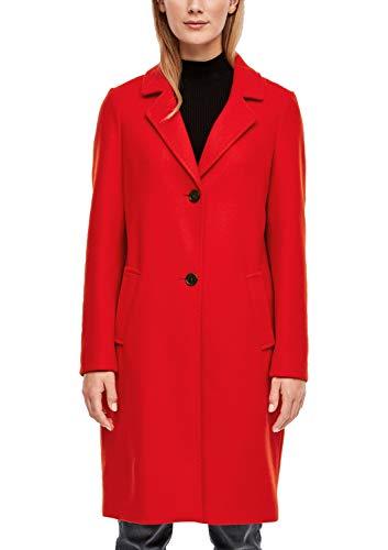 s.Oliver Damen Klassischer Mantel in Woll-Optik red 46