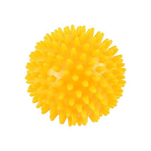 bansd Bola de Masaje Puntiaguda de PVC para aliviar el Dolor de pies y la Fascitis Plantar Bola de Erizo Rojo 8cm