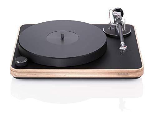 Clearaudio Concept Wood Turntable with Satisfy Carbon Fiber Tonearm and Concept MC Cartridge