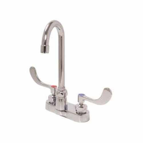 Zurn Z812B4 Double Handle Center set Bathroom Faucet with Metal Wrist Blade Handles from the, Chrome