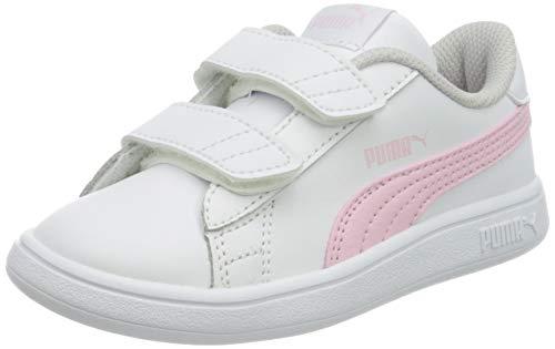 PUMA Unisex Baby Smash V2 L V Inf Sneaker, Puma Whitepink Lady, 22 EU