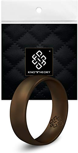 Knot Theory Dark Bronze Silicone Wedding Ring for Men - Comfort 6mm Band Size 13