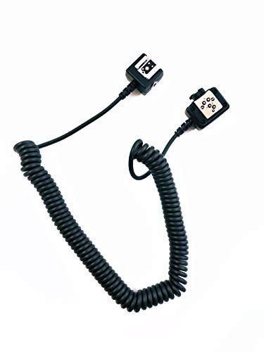 Pixtic-Cable de extensión TTL SC-28 1 m para Flash Nikon SB-900, SB-800,...