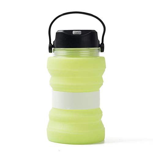 N / A utensilios de cocina de carga de energía solar tetera eléctrica al aire libre tienda de campaña creativa luminosa taza de té luminosa plegable tetera accesorios de camping